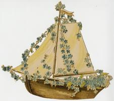 Sailboat with flowers