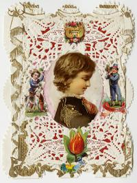 "Esther Howland Valentine card, ""Sincerely Yours"" ca. 1870s"