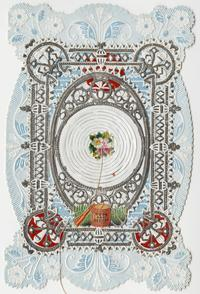 "Esther Howland Valentine card, ""Hope and Success"" ca. 1870s"