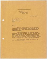 Letter from Edward Murrow to S. K. Ratcliffe; London, May 3, 1945