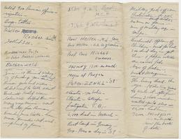 Edward R. Murrow's handwritten notes regarding Buchenwald concentration camp