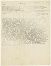 Edward R. Murrow's typed notes from Buchenwald