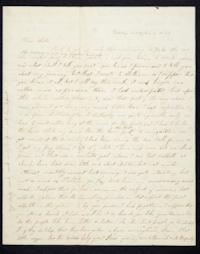 Letter from Caroline LeConte to her sister Mary LeConte