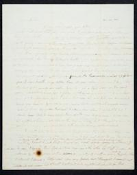 Letter from Caroline LeConte to her mother, Mrs. Jerusha LeConte