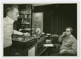 Staff at work in the 4-College Radio Station