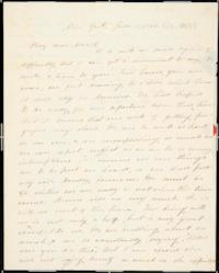 Letter from Edward C. Lord to Mary Lyon, aunt of his wife, Lucy Lyon Lord '40