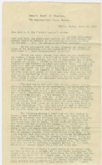 Letter from Mary A. C. Ely '61 to the Women's Board of Missions in Boston; written in Bitlis, Turkey