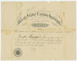Diploma from Mount Holyoke Female Seminary at Bitlis, Turkey, founded by the Ely sisters