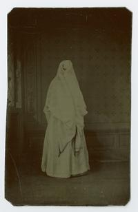 Veiled Turkish or Armenian woman, from the time of the Ely sisters' missionary work in eastern Turkey