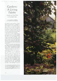 Gardens: A Living Palette; Sondra and Jack Beal in New York State, by Carola Kittredge for Architectural Digest