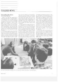 Printmaking Workshops Stimulate Interest, article with picture of visiting artist Sondra Freckelton, from a Mount Holyoke publication