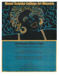 "Art Museum publicity for ""Faith Ringgold: Works on Paper"" exhibition reception and lecture by the artist"