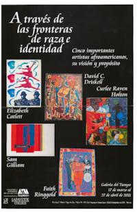 Publicity for exhibition in Mexico City which included works by the artist Faith Ringgold