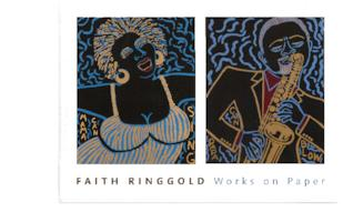 "Art Museum invitation to lecture and book signing by visiting artist, Faith Ringgold, in conjunction with her exhibition, ""Faith Ringgold: Works on Paper"""