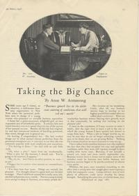 Taking the Big Chance, by Anne W. Armstrong