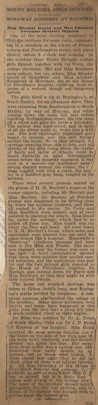 Newspaper Article from Adelaide E. Sweetser Memory Book, 1900