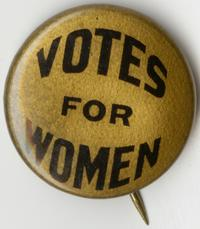 Suffrage pin belonging to Ruth Sonn, Class of 1918