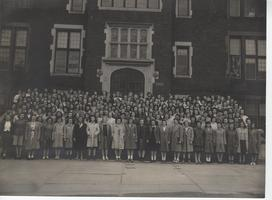 Members of the class of 1946 pose for a class picture