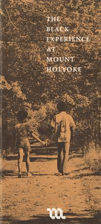 The Black Experience at Mount Holyoke' brochure, 1971