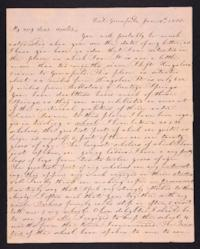 Letter from Elizabeth Cogswell to Abby Cogswell, January 10, 1833