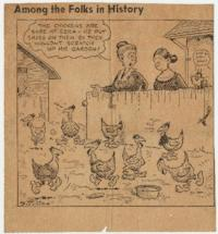 "Newspaper cartoon, ""Among the Folks in History"""
