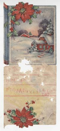 Christmas card from David Grandstaff to Caroline and W. E. Henderson