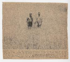 "Newspaper photograph with ""Harvest Over"" caption"