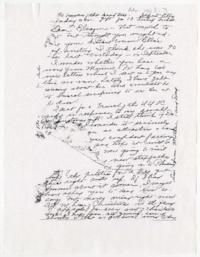 Letter from Caroline and W. E. Henderson to Eleanor Henderson