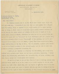 Letter from A. W. Van Buren to Marion Blake dated 9 September 1926