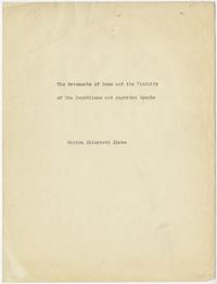"""The Pavements of Rome and its Vicinity of the Republican and Augustan Epochs,"" a scholarly paper by Marion Elizabeth Blake"