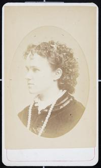 Viette Brown Sprague, Class of 1871; cabinet card portrait made in Northampton, probably after her graduation from Mount Holyoke