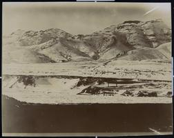 Mountains southwest of Kalgan, North China, seen from inside the A.B.C.F.M. Mission Compound, where Viette Brown Sprague '71 was a missionary