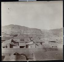 View over rooftops of Kalgan, North China, during the time of Viette Brown Sprague's missionary work there
