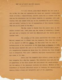 May Day 1933 Press Release
