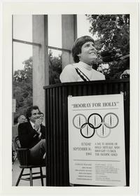 "Harriet ""Holly"" Metcalf, Class of 1981, at a Mount Holyoke celebration held in her honor"