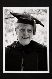 Sarah (Sally) Montgomery, Professor of Economics, in academic regalia