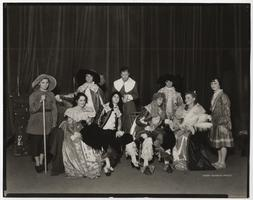 "Cast of Dramatic Club's presentation of Molière's ""Le Bourgeois Gentilhomme"""