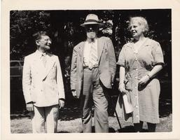 Jean Wahl, Gustave Cohen and Helen Patch at the Entretiens da Pontigny Conference in 1943