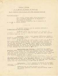 Minutes from January 23, 1944 Pontigny Conference Committee meeting