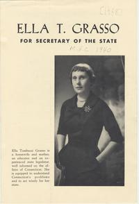 Ella T. Grasso for Secretary of the State