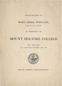 Inauguration of Mary Emma Woolley