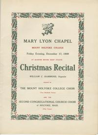 Christmas Recital Program, December 17, 1909
