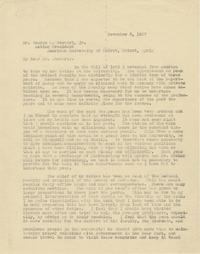 Edwin Ward letter to George B. Stewart, Jr., November 5, 1927
