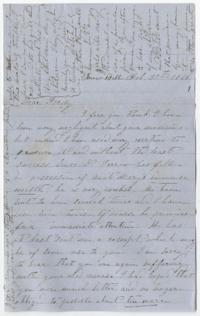 "Letter from Sarah Elizabeth Ford to ""Fordy"""