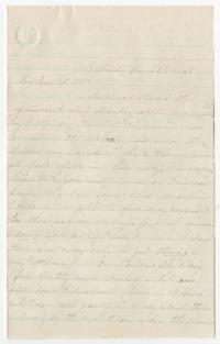 Letter from Charlotte Ford to Sarah Elizabeth Ford, her sister