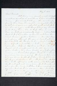 Letter from Hannah Louisa Plimpton, Class of 1848, and her sister Sarah to friends; addressed to their brother, Francis Vernon Plimpton