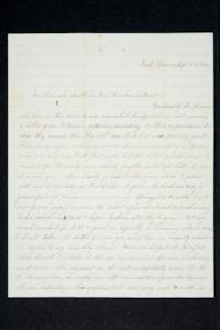 "Letter from Hannah Louisa Plimpton, Class of 1848, and her sister Sarah to ""those who dwell in No. 1 Breakneck Street"" and friends"
