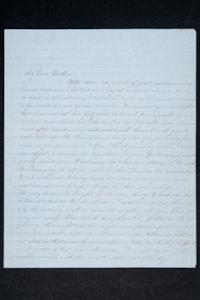 Letter from Hannah Louisa Plimpton, Class of 1848, and sister Sarah to their brother