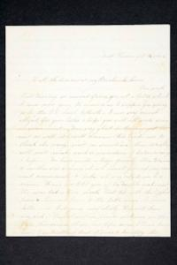 "Letter from Hannah Louisa Plimpton, Class of 1848, to ""all the dear ones at my Breakneck House"""