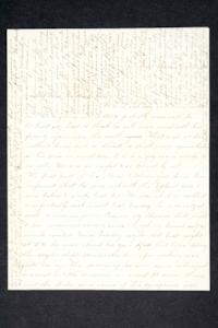 Letter and envelope from Hannah Louisa Plimpton, Class of 1848, and sister Sarah to their brother, Rev. Salem M. Plimpton